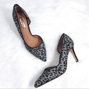 Halogen 'Marlie' Calf Hair d'Orsay Heels